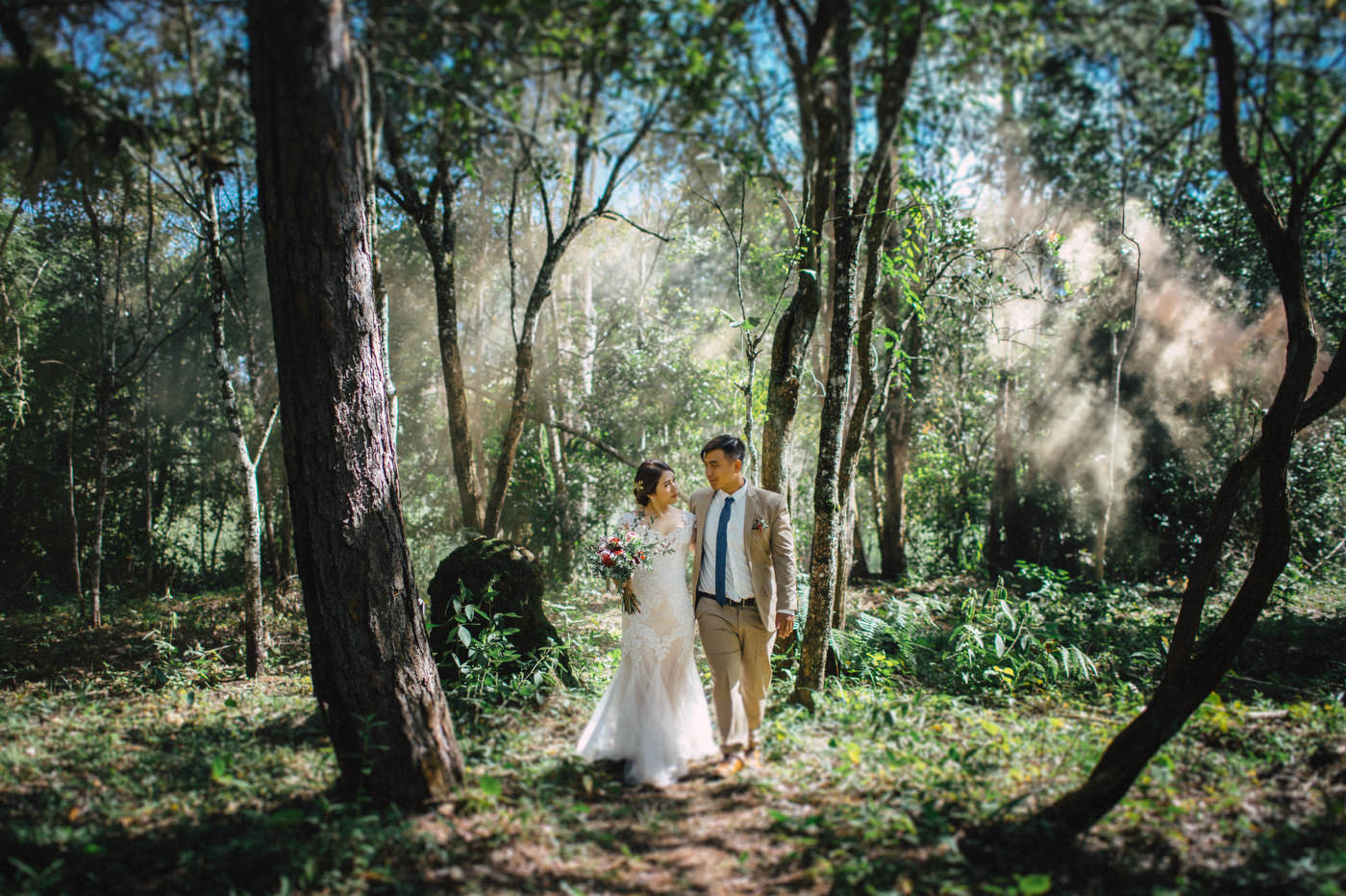Vi + Hoang Elopement in the wood | Da Lat, Vietnam